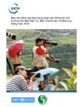 Báo cáo đánh giá hiện trạng phản ánh thông tin môi trường trên Báo Đầu Tư, Báo Thanh niên và Báo Lao Động năm 2010