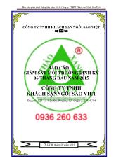 Báo cáo giám sát 6 tháng đầu năm 2015 - Công ty TNHH Khách sạn Ngôi Sao Việt