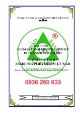 Báo cáo giám sát môi trường định kỳ 06 tháng cuối năm 2014 Chủ đầu tư: Công ty TNHH Samsung Polymer (Việt Nam)