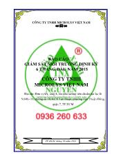 Báo cáo giám sát môi trường định kỳ 06 tháng đầu năm 2015 Chủ đầu tư: Công ty TNHH Microlys Việt Nam