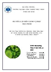 Đề tài Đặc điểm các phương pháp hóa học sử dụng trong ức chế sinh trưởng của vi sinh vật trong thực phẩm