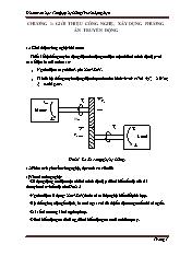 Đồ án môn học Tổng hợp hệ thống Truyền động điện