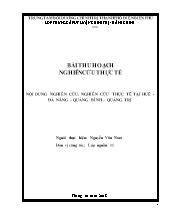 Nghiên cứu thực tế tại Huế - Đà nẵng – Quảng bình – Quảng Trị