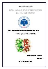 Tiểu luận môn hóa sinh và hóa sinh thực phẩm - Tổng quan về enzyme