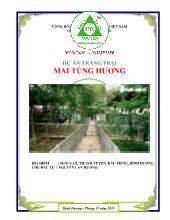 Báo cáo nghiên cứu khả thi Dự án trang trại Mai Tùng Hương