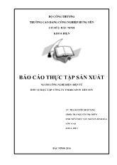 Báo cáo thực tập sản xuất của công ty TNHH Cannon Việt Nam