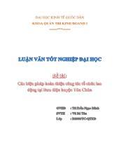 Đề tài Các biện pháp hoàn thiện công tác tổ chức lap động tại bưu điện huyện Tủa chùa