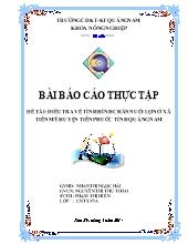Đề tài Điều tra về tình hình chăn nuôi lợn ở xã Tiên mỹ huyện Tiên phước tỉnh Quảng Nam