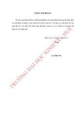 Đề tài Hoạt động thanh toán không dùng tiền mặt tại ngân hàng thương mại cổ phần CôngThương Việt Nam - Chi nhánh Huế