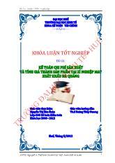 Đề tài Kế toán chi phí sản xuất và tính giá thành sản phẩm tại xí nghiệp may xuất khẩu Hà Quảng