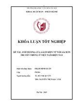 Khóa luận Ảnh hưởng của sách điện tử tới sách in truyền thống ở Việt Nam hiện nay