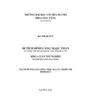 Khóa luận Bảo tàng - Di tích đình làng Ngọc than xã Ngọc mỹ - Huyện Quốc oai - tỉnh Hà Tây