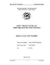 Khóa luận Thực trạng sách lậu trên địa bàn Hà nội năm 2012