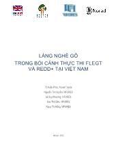 Làng nghề gỗ trong bối cảnh thực thi flegt và redd+ tại Việt Nam