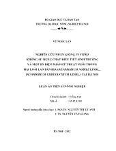 Luận án Nghiên cứu nhân giống in vitro không sử dụng chất điều tiết sinh trưởng và một số biện pháp kỹ thuật nuôi trồng hai loài lan bản địa (dendrobium nobile lindl., dendrobium chrysanthum lindl.) tại Hà Nội