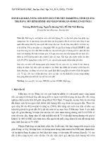 Luận văn Đánh giá khả năng xói mòn đất ở huyện Đakrông, tỉnh Quảng trị bằng mô hình rmmf (revised morgan - Morgan - finney)