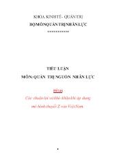 Quản trị nguồn nhân lực - Các thuận lợi và khó khăn khi áp dụng mô hình thuyết z vào Việt Nam
