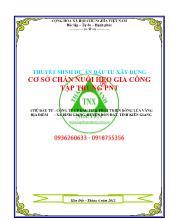 Thuyết minh dự án Đầu tư xây dựng cơ sở chăn nuôi heo gia công tập trung PNT tại tỉnh Kiên Giang