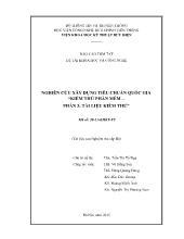 Báo cáo tóm tắt Nghiên cứu xây dựng tiêu chuẩn quốc gia - Kiểm thử phần mềm – Phần 3: Tài liệu kiểm thử