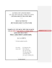 Báo cáo tóm tắt Nghiên cứu xây dựng tiêu chuẩn quốc gia kỹ thuật hệ thống và phần mềm - Kiểm thử phần mềm - Phần 1: Khái niệm và định nghĩa