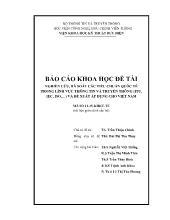 Đề tài Nghiên cứu, rà soát các tiêu chuẩn quốc tế trong lĩnh vực thông tin và truyền thông và đề xuất áp dụng cho Việt Nam